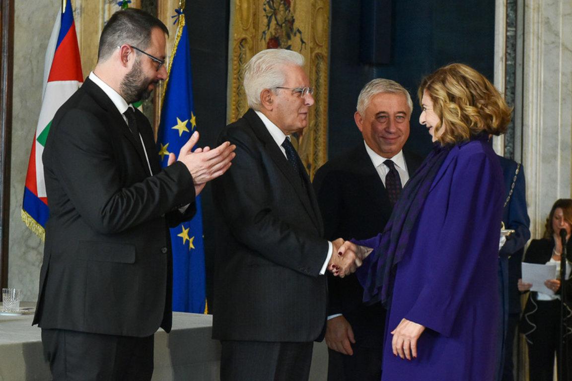 immagine articolo Matilde Bernabei è Cavaliere del Lavoro. Il Presidente Mattarella ha consegnato le onorificenze.